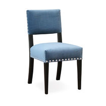 Traditional chair / upholstered / fabric / leather