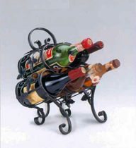 Metal bottle rack / free-standing / classic / commercial