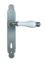 Door handle / metal / porcelain / contemporary
