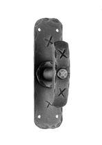 Sliding window handle / wrought iron / rustic