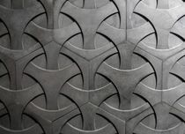 Wall-mounted tile / concrete / geometric pattern / 3D