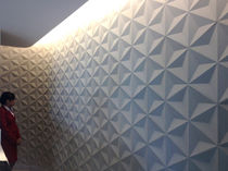 Wall-mounted tile / concrete / 3D / geometric pattern