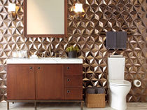 Wall-mounted tile / ceramic / 3D / geometric pattern