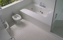 Bathroom tile / indoor / floor / ceramic