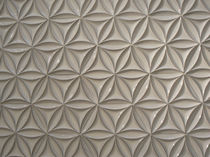 Wall-mounted tile / ceramic / geometric pattern / 3D