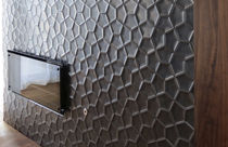 Indoor tile / wall-mounted / ceramic / 3D