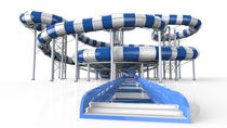 Curved slide / for aquatic parks / rafting / tube