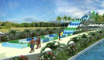 Curved slide / for aquatic parks / multiple / rafting