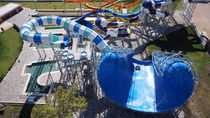 Curved slide / for aquatic parks