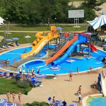 Upright slide / curved / for water parks