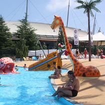 Fiberglass shower / for aquatic parks / child's