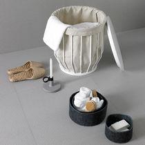 Leather laundry basket
