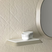 Wall-mounted shelf / contemporary / wooden / bathroom