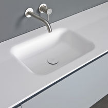 Built-in washbasin / rectangular / Corian® / contemporary