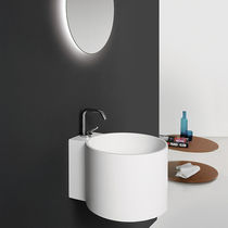 Wall-mounted washbasin / round / Solid Surface / contemporary