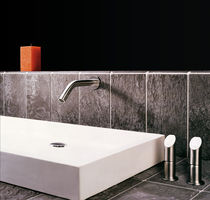 Washbasin double-handle mixer tap / free-standing / built-in / stainless steel