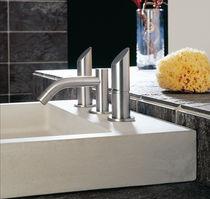 Bidet double-handle mixer tap / free-standing / stainless steel / bathroom