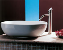 Washbasin mixer tap / stainless steel / bathroom / 1-hole