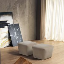 Contemporary pouf / fabric / square