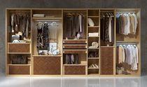 Contemporary wardrobe / wooden