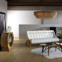 Traditional sofa / walnut / mahogany / fabric
