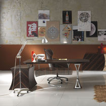 Contemporary desk / in wood / commercial
