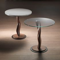 Pedestal table / contemporary / in wood / residential