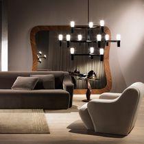 Wall-mounted mirror / contemporary / walnut