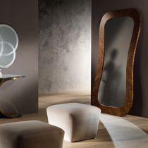 Free-standing mirror / contemporary / rectangular / walnut