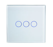 Touch switch / triple / glass / contemporary