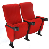 Fabric cinema seating / red