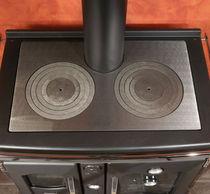 Wood range cooker / cast iron / enameled