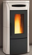 Pellet heating stove / contemporary / ceramic