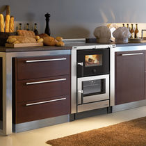 Wood range cooker / stainless steel / cast iron