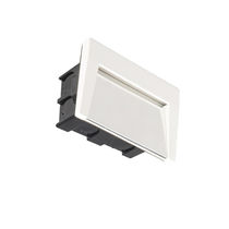 Recessed wall light fixture / LED / rectangular / outdoor