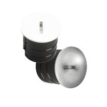 Recessed wall light fixture / LED / round / outdoor