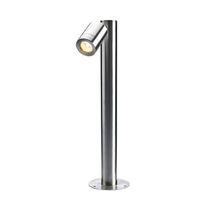 Garden bollard light / contemporary / stainless steel / glass