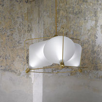 Pendant lamp / contemporary / blown glass / LED