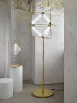 Floor-standing lamp / contemporary / blown glass / LED