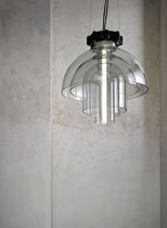 Pendant lamp / contemporary / glass / fluorescent