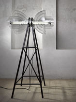Floor-standing lamp / contemporary / glass / fluorescent