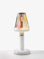 Table lamp / contemporary / blown glass / metal