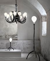 Contemporary chandelier / blown glass / handmade