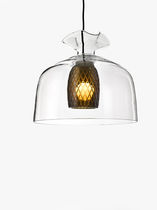 Pendant lamp / contemporary / blown glass / handmade