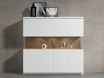 High sideboard / contemporary / wood / lacquered wood