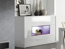 Contemporary sideboard / wood / lacquered wood