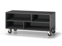 Contemporary TV cabinet / on casters / wooden - 120 - Baixmoduls