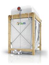 Wood pellet storage silo (auger delivery)