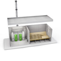 Pellet boiler / solar / commercial / outdoor