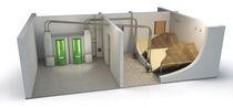 Wood pellet storage room (auger delivery)